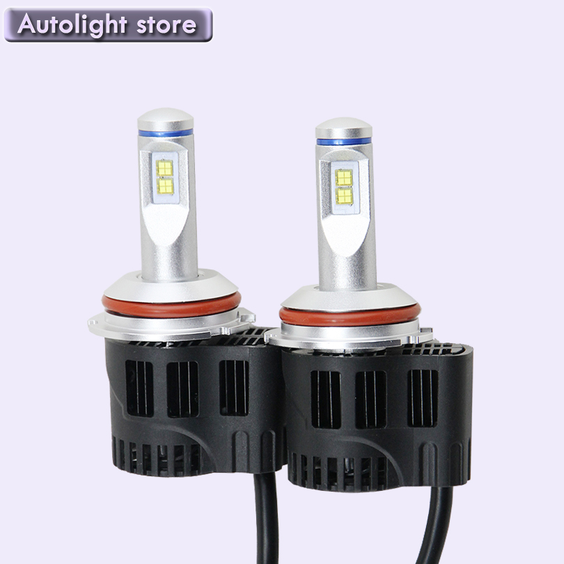 The Newest 6th Gen canbus 9007 LED White Headlight Kit 5200Lm 55W high power 9007 HB6 high low beam led auto head light lamp<br><br>Aliexpress