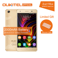 Oukitel C5 Pro 5.0 Inch HD MTK6737 Quad Core Screen Smartphone 2000mAh Android 6.0 Cell Phone 2GB RAM+16GB ROM Mobile Phone(China)