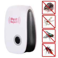 Electronic Ultrasonic Anti Pest Bug Mosquito Fly Cockroach Mouse Repeller elerico mosquito repellents USA Plug  E5M1