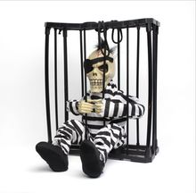 Halloween Toys Electric Plush Terror Scary Talking Cage Ghost Skeleton Festive Gifts Desktop Decoration Free Shipping(China)