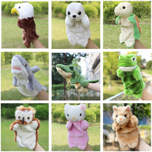 Hot Sale Educational Toys Animal Hand Puppet Cartoon Shark Frog Wolf Cat Duck Sea Turtle Eagle Owl Dolphin Plush Doll Baby Toys(China)