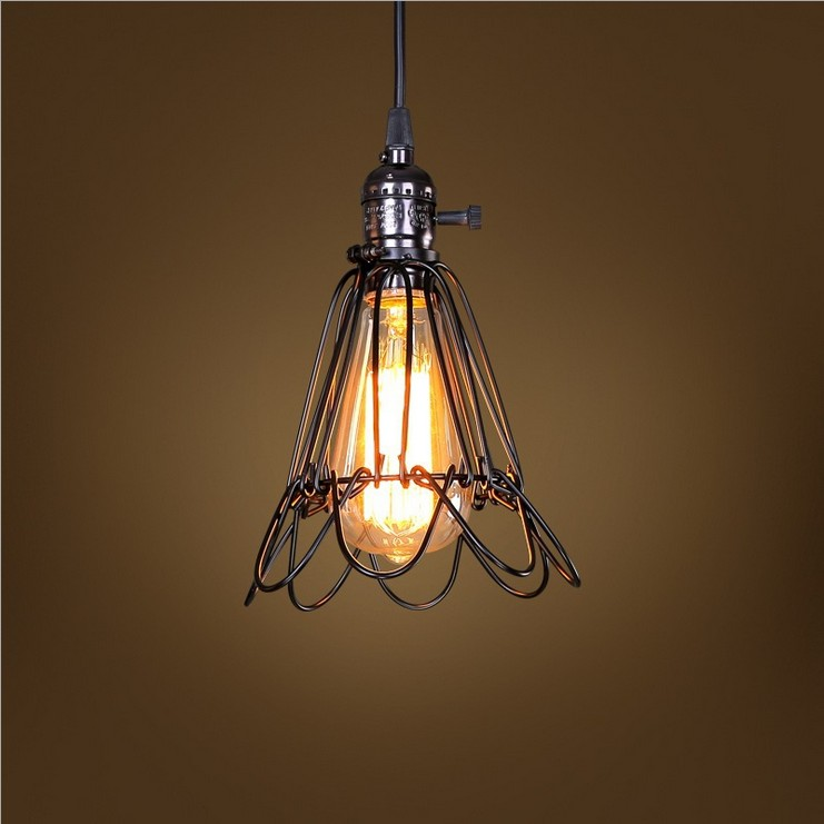 Northern Italian British industrial model personality retro style rustic restaurant bar corridor small bird cage chandelier lamp<br><br>Aliexpress