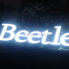Acrylic frontlit LED letters acrylic advertising letters illuminated sign custom led sign letters