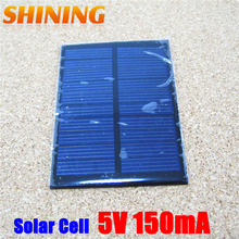 Wholesale 10Pcs/Lot 0.75W Polycrystalline Solar Cell Panel, Mini Solar Panel Small Solar Cell PV Module For DIY Solar Kits