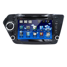 Car DVD Player for KIA RIO K2 with Radio, GPS Navigation, TV, SWC, BT, USB/SD, Russian menu, dvd Free 8GB Map Car monitor  DVB-T