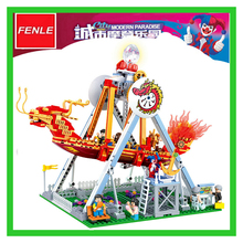 07033 710pcs City modern paradise A pirate boat Model Building Blocks Toy Bricks Compatible with Lepin Kids Toys Gifts