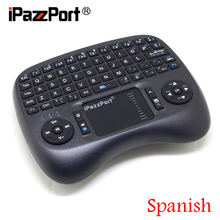 [Free DHL] iPazzPort(21TL) 2.4G Mini Wireless Spanish(Espanol) Keyboard+TouchPad for Google Android TV Box/PC/IPTV - 30pcs(China)