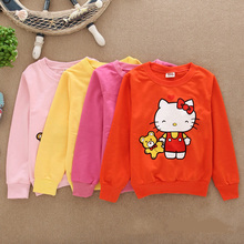 Hello Kitty Hoodies Hoodie Pony Children Hoody girls Sweatshirts kid Hello Kitty Girls Roupa Infantil Hoodies