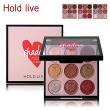 HOLD LIVE 9 Colors Glitter Shimmer Eye Shadow Makeup Palette Heart Shaped Diamond Eyeshadow Creamy Warm Smooth Powder Cosmetics
