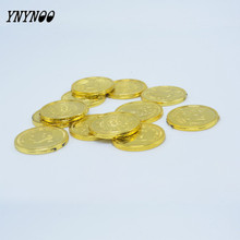 YNYNOO 12pcs Funy Carnival Easter Tricky Toys Fate Coins & Gold Coin Pirate Gold Coins Toys & Practical funny Toys For Tricky