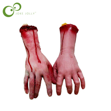 1pc Horror trick Toy Scary Prop Latex Stump Bloody Cut Hand Bone Halloween Gift Practical Joke rubber artificial broken hand GYH