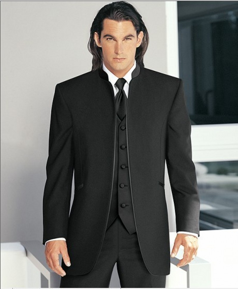 Groom dress gentleman style groomsman wedding dress / dinner suit best men's wedding suit (jacket + pants + tie + vest) B214
