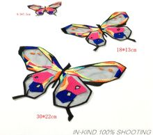 MIX3PCS butterfly Iron On Patches Sew-On Embroidered Applique Sewing on Patch Clothes Stickers Garment DIY Apparel Accessories
