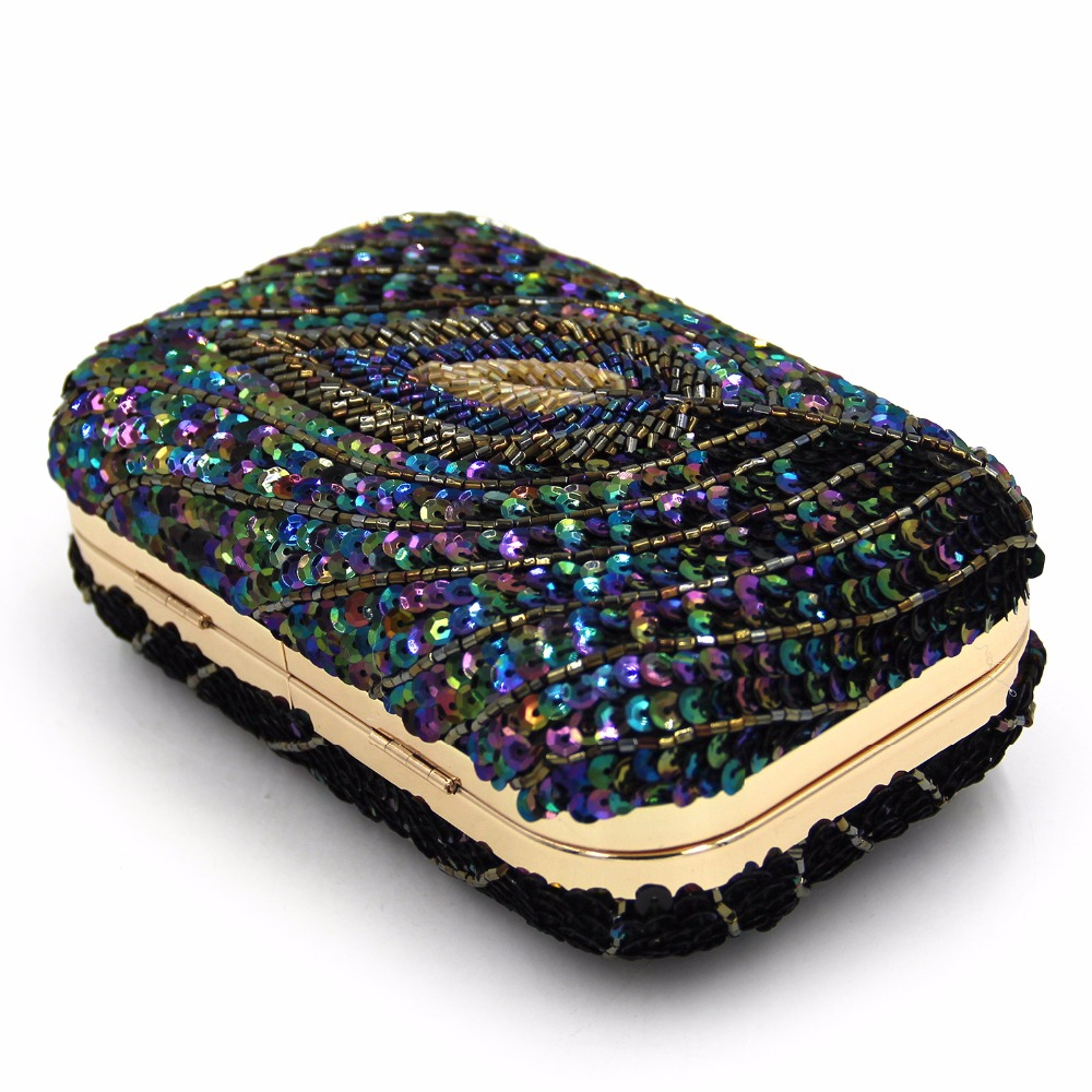 2017 New European and American Style Woman Beaded Clutch Bag Fashion Brand Ladies Evening Bags For Party Free Shipping