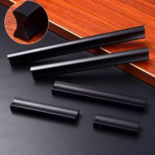 Black Aluminum Alloy Simple Knobs Modernized Drawer Cabinet Kitchen Door Handles Furniture Pull Knob For Houseware Parts 5Sizes
