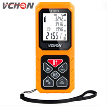 VCHON LED backlight yellow 40M 60M 80M 100M Laser range finder digital laser distance measurer instrument electronic measuring(China)