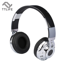 Buy TTLIFE M12 Bluetooth Headphone Wireless Stereo Headset Mic Support TF Card FM Radio Ear Headphones Phone Music for $21.76 in AliExpress store