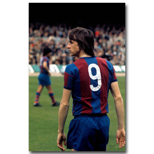 NICOLESHENTING Johan Cruyff Football Legend Art Silk Poster Print 13x20 inches Netherlands Soccer Star Pictures Room Decor 001