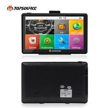 "TOPSOURCE 7"" Car  truck vehicle GPS Navigation mtk ce6.0 800Mhz  256M 8GB  gps map for navitel/ espanol/uk/Europe/USA/spanish"