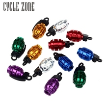 Dynamic 2017 2PCS Grenade Alloy Valve Caps Dust Covers Bike Bicycle MTB BMX Car Fit for all car ,motorcycle models(China)