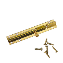 Durable Brass Door Slide Lock Catch Security Latch Sliding Lock Home Gate Safety Hardware 4 size Optional+Screw