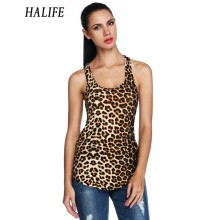 HALIFE Summer Punk Rock Tank Top Women Fitness Leopard Print Stretch Workout Tank Tops Femme Sleeveless Casual Club Camisetas 15(China)