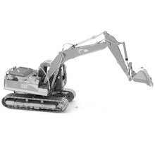 JWLELE CAT EXCAVATOR PUZZLE new styles 2 Sheets 3D Metal assembly model Creative Desktop decoration toys Engineering vehicle
