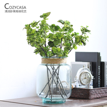 Decorative simulation of living room simulation of mint leaves artificial flowers decorated with decorative ornaments(China)