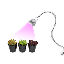 LED Grow Light with Clip Flexible Lamp Head Clip LED Plant Growth Light for Indoor or Desktop Plants US/EU Plug(China)