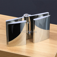 1PCS Brass Frameless Bathroom Shower Door Hinges Glass to Glass Hinges Chrome Finished