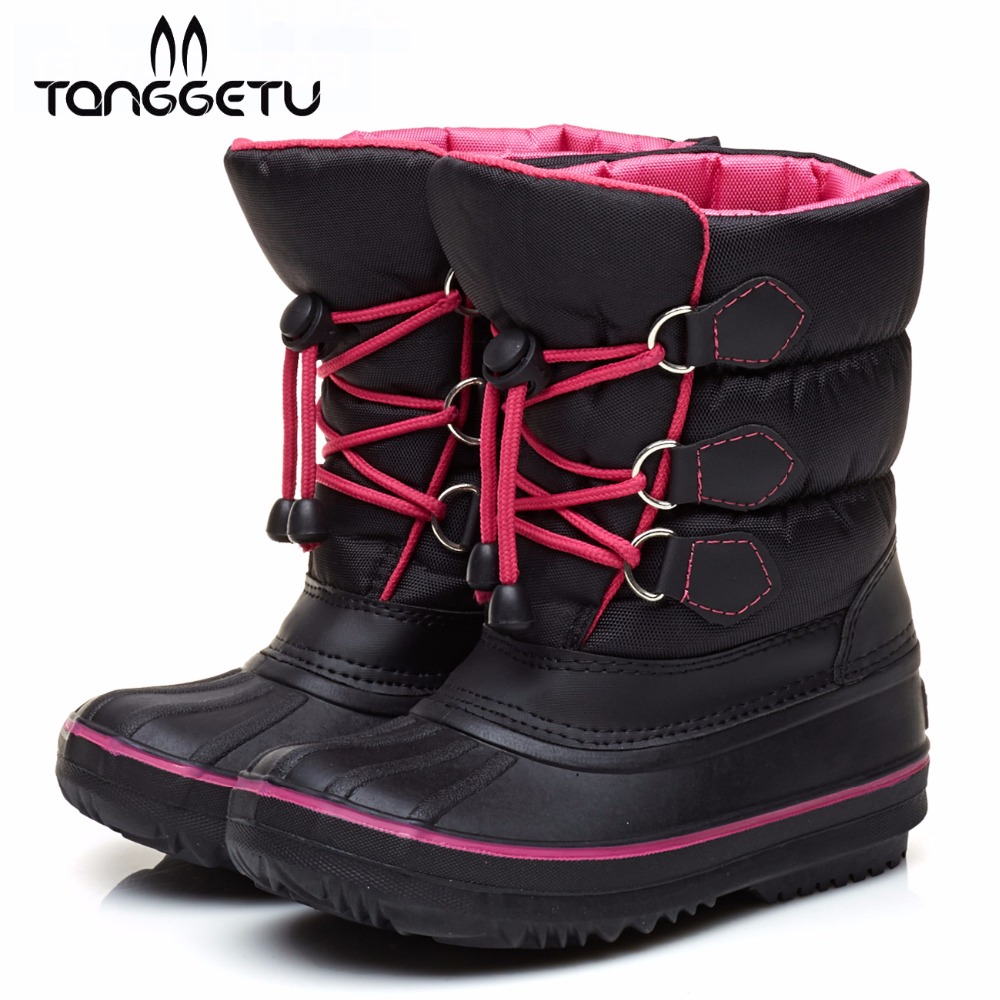 Tanggetu 2018 Kids Winter Warm Boots For Boys And Girls  Children Outdoor Shoes Boy Flat Work Boot Thick Fashion Shoe Anti Skid<br>