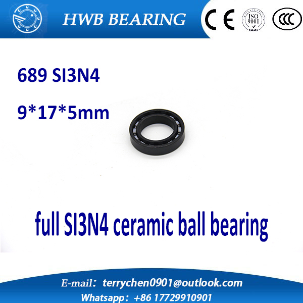 Free shipping 689 full SI3N4 ceramic deep groove ball bearing 9x17x5mm for bike part<br><br>Aliexpress