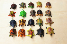 The simulation model pvc figure toy marine animals tortoise / turtle / snapper / trunk turtle odor-free environment 16pcs/set