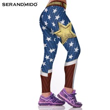 Fashion Active Women Sporting Leggings Sexy Fitness Pants Floral Gothic Wide Workout Clothing Waisted Sportswear 4L7(China)