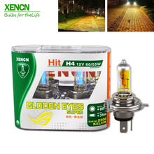 XENCN H4 12V 60/55W P43t 2300K Golden Eyes Super Yellow More Bright Light Halogen Car Bulbs Headlights Free Shipping 2pcs(China)
