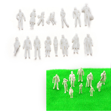 100 Pcs/lot DIY Scale 1:100 White Model People Unpainted Landscape Models Toys Model Building Kits Wholesale