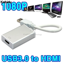 Kebidu New USB 3.0 To HDMI Graphic Adapter Converter For HDTV LCD PC Laptop Audio Video