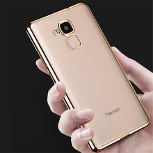Honor 5C Case Plating Crystal Soft TPU Clear Transparent Silicon Cover for Huawei Honor 7 Lite Phone Cases GT3 Slim Protector