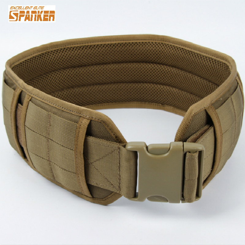 Military Tactical Molle Load Bearing Pad Patrol Belt Airsoft Acessorios 1000D Nylon Molle Belt<br>