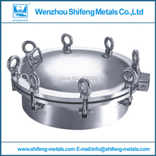 400mm Food grade stainless steel 304 round manhole cover/manway pressure 3bar