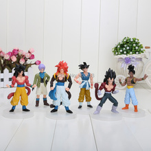 12cm Japanese Anime Cartoon Dragon Ball Z 6PCS/SET PVC Figures Doll Animation Models Toy Collection Birthday/Xmas Gifts(China)