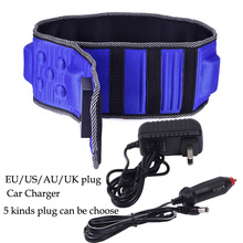 New Vibration Massage Belt Infrared Ray Sauna Waist Slimming Belt Heating Fat Burning Massager EU US AU UK Plug Car Charger(China)