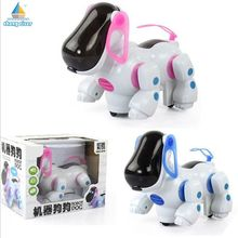 Hot Toy Robot Dog Lovely Music Shine Intelligent Electronic Robot Walking Dog Puppy Action Toy Pet Kids Baby With Music Light