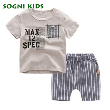 2017 summer baby boys cotton t-shirt children's T-shirts+Shorts 2pcs Kinderen Peuter jongens kleding children's clothing sets