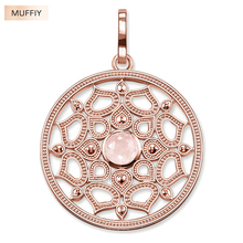 Pink Lotus Flower Small Pendant,Thomas Style Glam Fashion Good Jewelry For Women,Ts Gift In 925 Sterling Silver Fit Necklace