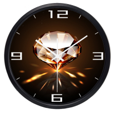 Diamonds Shop Design Wall Clock Hot Sale Home Decoration Multicolors Silent Wall Clock Pretty Glass Art Blink Clock