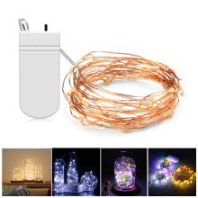 2M 5M led Battery Operated LED strip light string lights Copper Wire Lights for Party Christmas Holiday Decoration lamparas lamp(China)