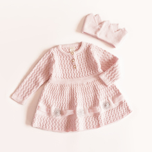 Girl Princess Sweater Dress New 2017 Spring Autumn Knitted Cute pink Baby Dress Kids Knee-Length Dress For Infant Girl dress