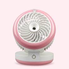 Misting Mini Fan Portable Air Conditioner Mini USB Water Spray Fan Rechargeable Humidifier fan Maker Cooler for Offic Home Used