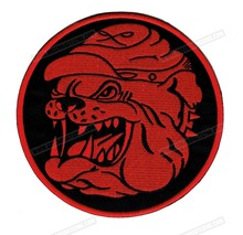 "Amazing 6"" Bull Dog  Motorcycle Biker Jacket Vest Setting Iron On Patch for Clothing DIY Embroidery Cloth Patch Free Shipping"